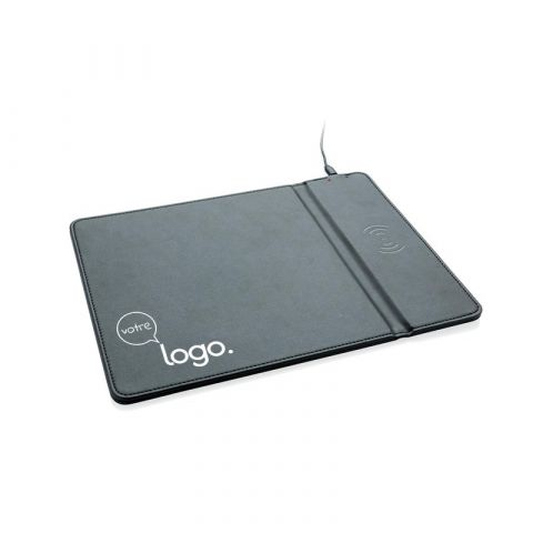 Tapis de souris publicitaire avec chargeur à induction 5W