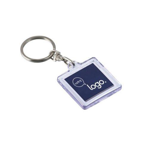 Porte-clés transparent porte-étiquette personnalisé