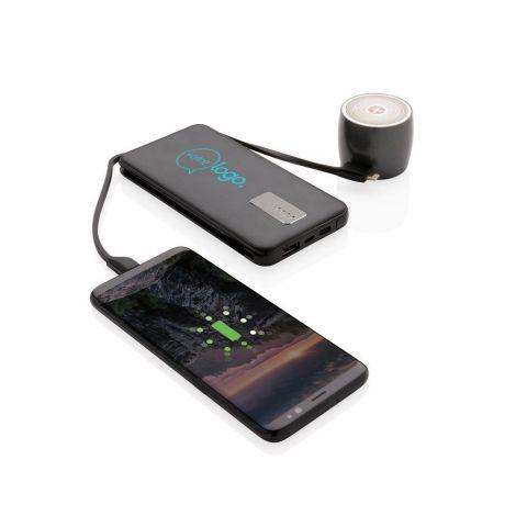 Batterie de secours personnalisable 10.000 mAh avec câble intégré