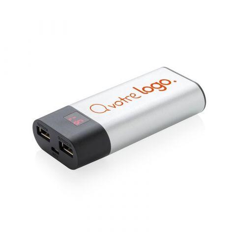 Batterie de secours publicitaire 4000 mAh avec affichage LED