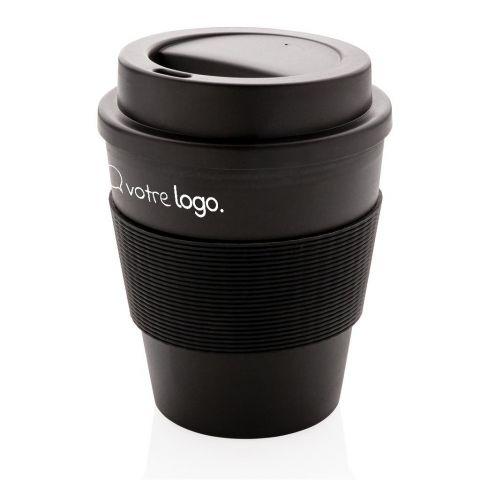 Mug personnalisable en PP recyclable avec couvercle à vis 350ml