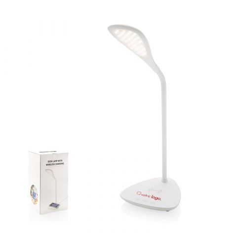 Lampe de bureau publicitaire avec station de charge induction 5W