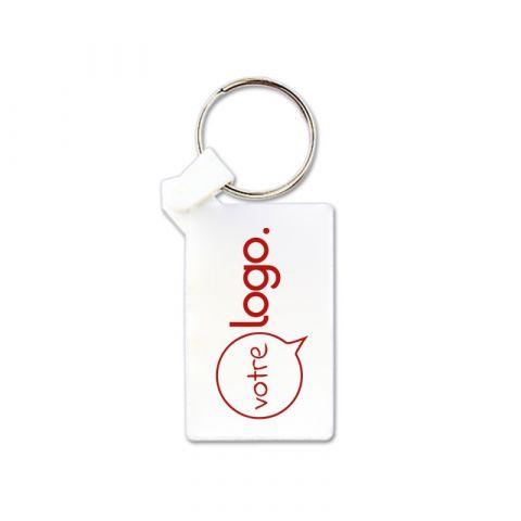Porte-clés publicitaire en plastique souple