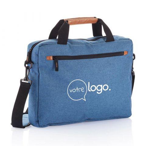 Sacoche à ordinateur portable publicitaire double ton sans PVC Fashion