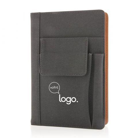 Carnet de notes personnalisé avec pochette pour téléphone