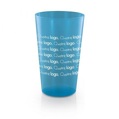 Pack de 500 gobelets plastique réutilisable publicitaire 60 cl