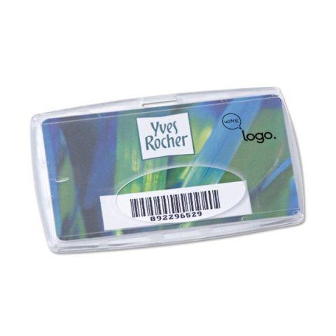 Porte badge ou carte de crédit publicitaire