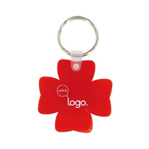 Porte-clés porte bonheur jeton trèfles à 4 feuilles personnalisé