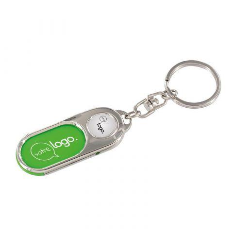 Porte-clés métal avec insert personnalisable