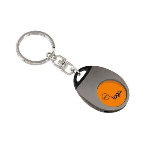 Porte-clés publicitaire avec jeton en plastique