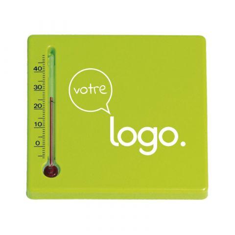 Thermomètre pavé publicitaire