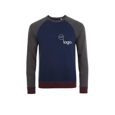 Sweat-shirt tricolore unisexe personnalisé publicitaire SANDRO
