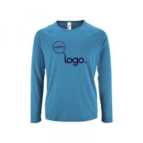 T-shirt de sport pour homme à manches longues personnalisé publicitaire SPORTY LSL