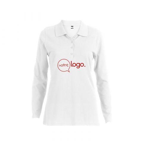 Polo àmanches longues personnalisé publicitaire pour femme BERN WOMEN