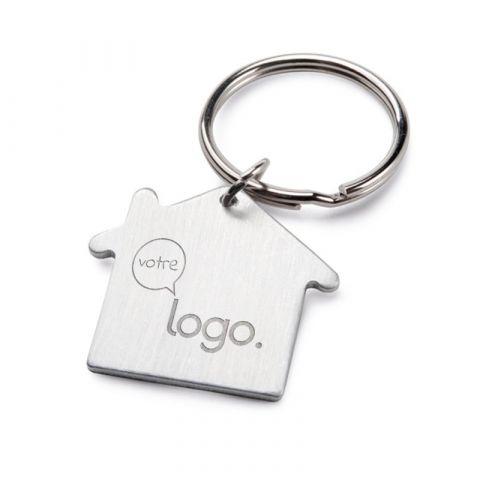 Porte-clés maison personnalisable en aluminium