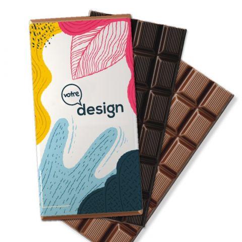 Tablettes en chocolat personnalisable 90g ®Le Petit Carré