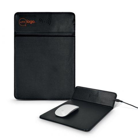 Tapis de souris personnalisable avec zone de charge sans fil