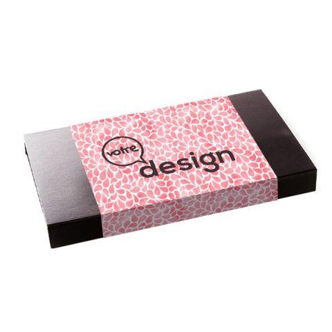 Coffret de chocolat personnalisé Tentation 48 carrés ®Le Petit Carré
