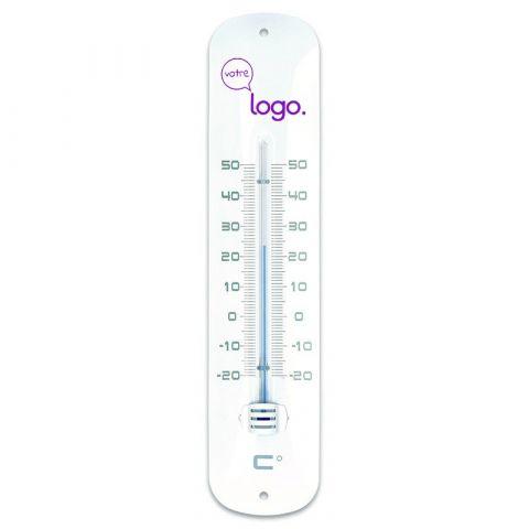 Thermomètre publicitaire en métal laqué de 30cm