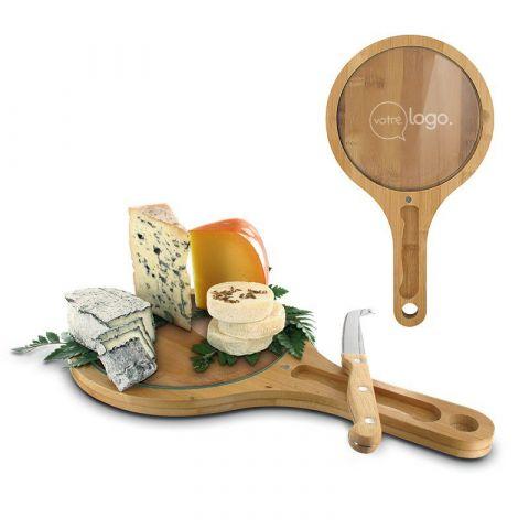 Plateau à fromage publicitaire avec couteau