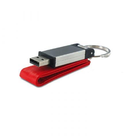 Clé USB en simili cuir et métal 4Go
