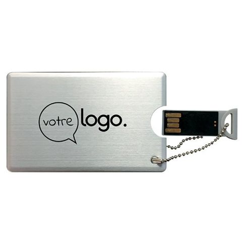 Clé USB publicitaire format Carte 4 Go