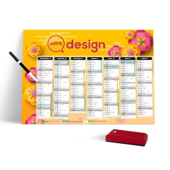 Grand planning effaçable publicitaire 100% personnalisable - 670x430 mm