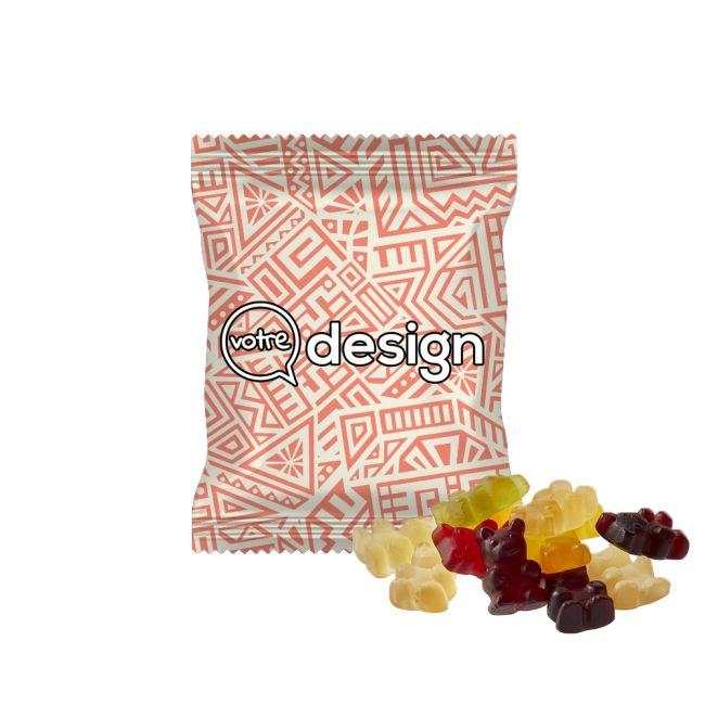 Oursons XXL bonbons vegans sachet personnalisé opaque 20g