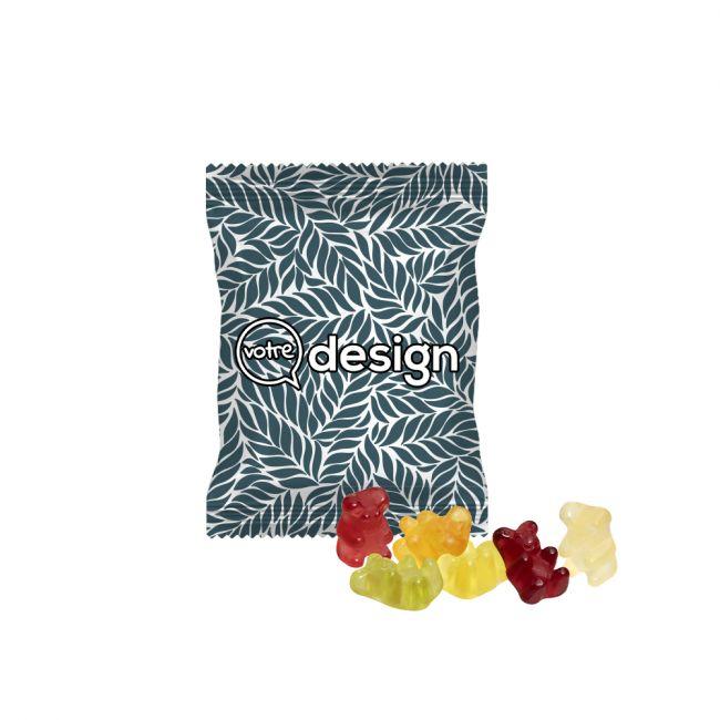Sachet 10g publicitaire opaque bonbons oursons smarts vegan