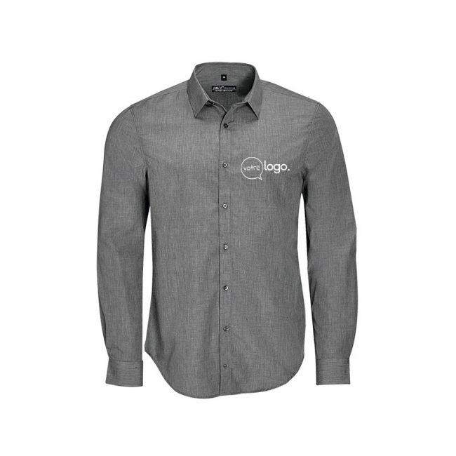 Chemise pour homme à manches longues personnalisée publicitaire BARNET