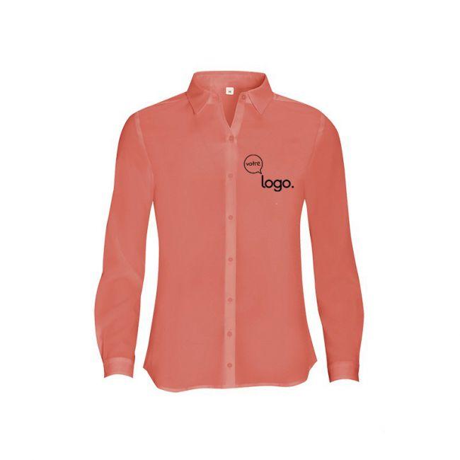 Chemise pour femme personnalisée publicitaire à manches longues BETTY