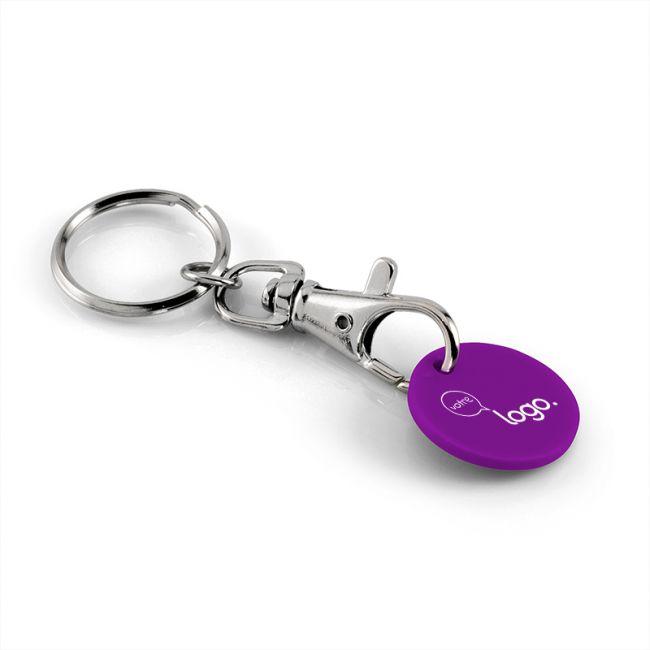 Porte-clés publicitaire avec jeton plastique
