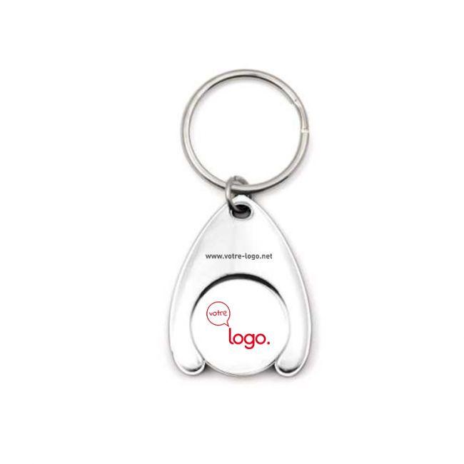 Porte-clés personnalisable deluxe avec jeton en métal