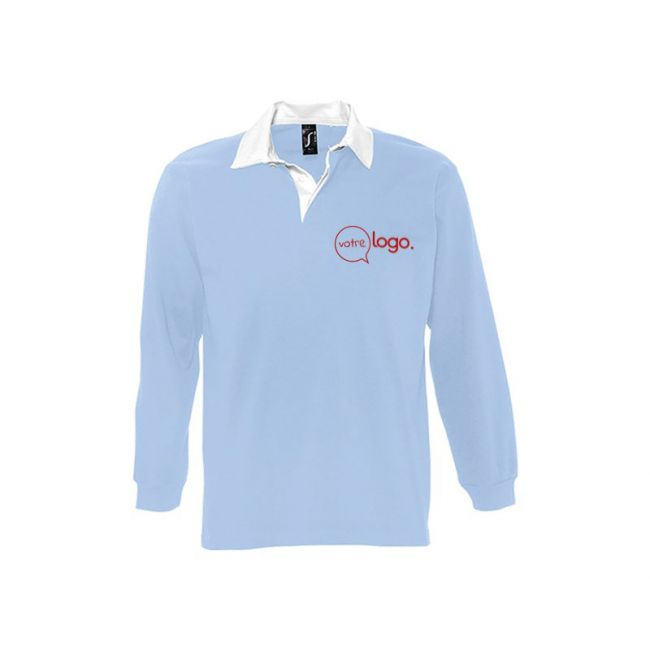 Polo rugby homme bicolore personnalisé PACK