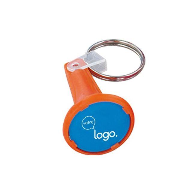 Porte-clés porte jeton avec jeton personnalisé