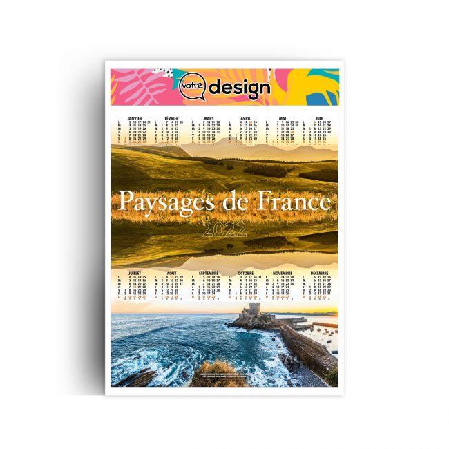 Calendrier De La Poste 2022 Prix Calendrier poster publicitaire illustré 2022   Paysages de France