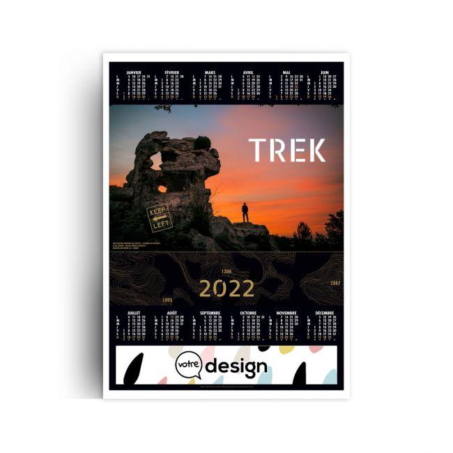 Calendrier De La Poste 2022 Prix Calendrier poster personnalisé illustré 2022   Trek   Goodies Pub
